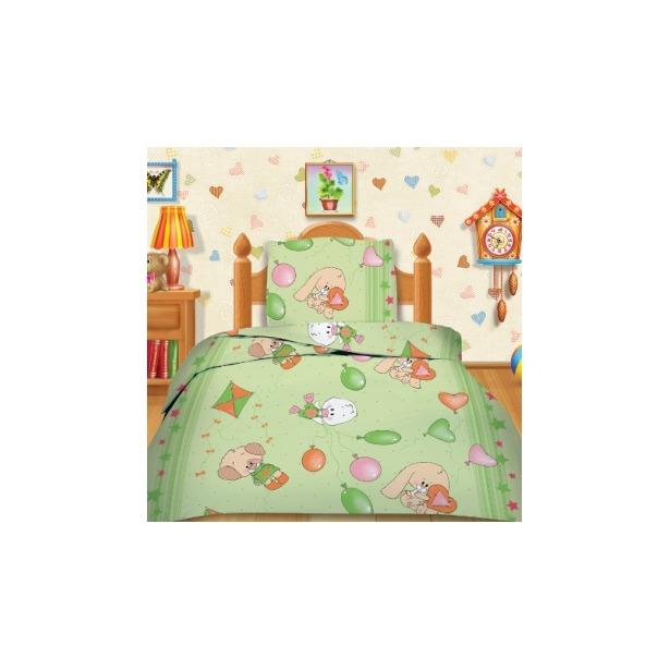 фото Детский комплект постельного белья Кошки-Мышки Веселые друзья . Цвет: зеленый