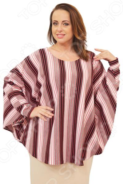 Пончо Матекс «Зарияна». Цвет: розовыйВерхняя одежда<br>Пончо Матекс Зарияна разработано с учетом особенностей женской фигуры. Свободный силуэт и грамотный крой делают его красивой и универсальной одеждой на все случаи жизни. Изделие прекрасно впишется в ваш повседневный гардероб.  Мягкое теплое пончо с оригинальным узором.  Круглый вырез горловины подчеркнет красоту вашей шеи.  Длинные рукава летучая мышь с манжетами.  На фотографии пончо представлено в сочетании с юбкой Венера . Пончо сшито из приятной ткани, состоящей на 100 из полиэстера. Материал не линяет, не скатывается, формы от стирки не теряет.<br>