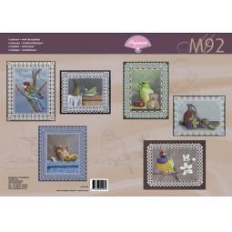Купить Набор схем для парчмента Pergamano M92 Натюрморты и птицы
