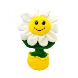 фото Мягкая игрушка со звуком Maxiplay «Веселая ромашка в горшочке»