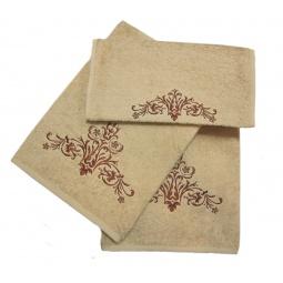 фото Комплект полотенец подарочный TAC Arabesk. Цвет: бежевый