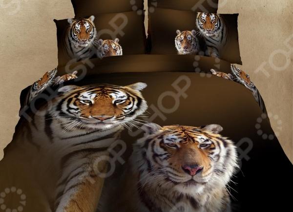 Комплект постельного белья Domomania Amurskie Tigri. Satin Fotoprint. 2-спальный2-спальные<br>Комплект постельного белья Domomania Amurskie Tigri. Satin Fotoprint - красивое и качественное постельное белье, которое подарит вам крепкий и здоровый сон. Качественный отдых - залог вашего здоровья, поэтому важно правильно подобрать постельное белье на котором вы будете спать. Красивый дизайн и высокое качество - главные критерии при выборе постельного белья. Комплект выполнен из 100 хлопка - материала мягкого и приятного на ощупь. Сатин изготавливается из крученой хлопковой нити двойного плетения. Он чрезвычайно приятен на ощупь, не электризуется и не скользит по кровати. Сатин прекрасно сохраняет форму и не мнется, отлично пропускает воздух, что позволяет телу дышать и дарит здоровый и комфортный сон. Роскошное постельное белье очарует вас и великолепным образом преобразит вашу спальню.<br>