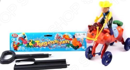 Каталка для малыша на палочке Shantou Gepai «Ковбой на палочке» каталка на палочке s s toys вертолет 23х16х13см