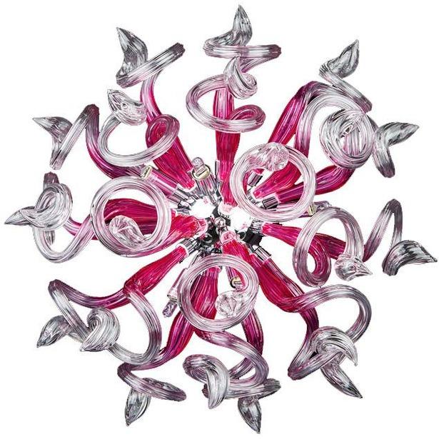 фото Бра Osgona Medusa. Цвет плафона: розовый, прозрачный