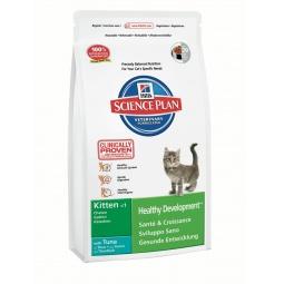 фото Корм сухой для котят Hill's Science Plan Kitten Healthy Development с тунцом. Вес упаковки: 400 г