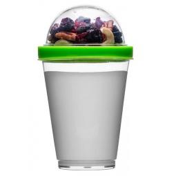 фото Кружка Sagaform для йогурта. Цвет: прозрачный, зеленый