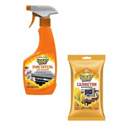 Купить Набор для уборки Lucky Bee очиститель поверхностей LB 7501 и салфетки для рук LB 7303