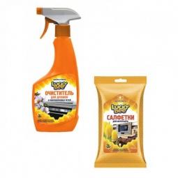 фото Набор для уборки Lucky Bee очиститель поверхностей LB 7501 и салфетки для рук LB 7303