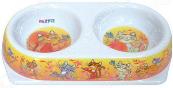 Миска для кошек двойная DEZZIE «Мечта» миска на подставке для кошек dezzie дуга