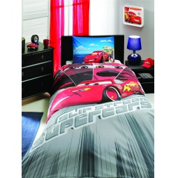 фото Детский комплект постельного белья TAC Cars face movie