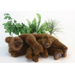 фото Мягкая игрушка для ребенка Hansa «Медведь бурый спящий»