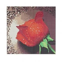 фото Набор для создания картины со стразами Белоснежка «Красный бутон»
