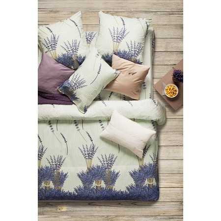 Купить Комплект постельного белья Сова и Жаворонок Premium «Лаванда». Семейный
