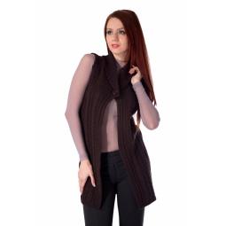 фото Кардиган Mondigo 9752. Цвет: коричневый. Размер одежды: 46