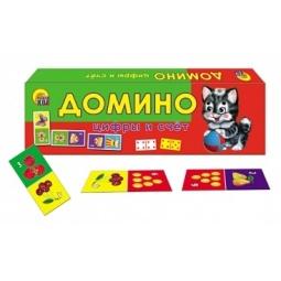 фото Домино детское Рыжий кот «Цифры и счет»
