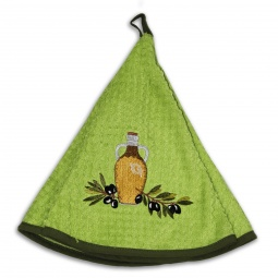 фото Полотенце кухонное Mariposa Olive. Рисунок: бутылка с веткой оливы