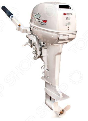 Лодочный мотор 2-х тактный JET! T15 BMS SilverРыбалка. Охота<br>Лодочный мотор 2-х тактный JET! T15 BMS Silver предназначен для совместного использования с моторными лодками. Модель обеспечивает продолжительную бесперебойную работу и быстрый набор оборотов. Среди основных преимуществ мотора можно отметить наличие системы облегченного старта, антикоррозийный корпус водяного насоса и электронную систему зажигания. Внутренние каналы водяного охлаждения снабжены оцинкованным покрытием. Предусмотрена ручная система управления и ручной тип запуска.<br>