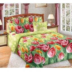 фото Комплект постельного белья Белиссимо «Тюльпаны». 2-спальный. Размер простыни: 220х240 см