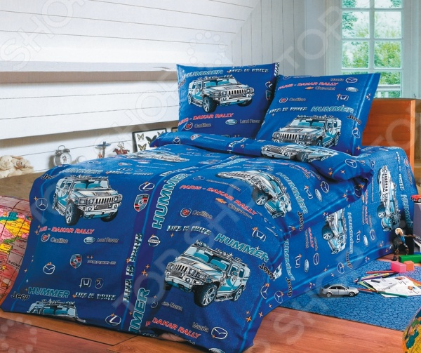 цена Детский комплект постельного белья Бамбино «Хаммер» онлайн в 2017 году