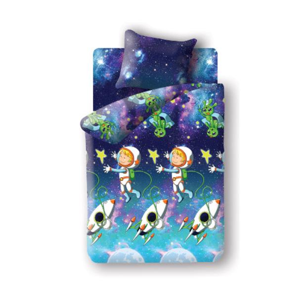 фото Детский комплект постельного белья Непоседа Космонавт