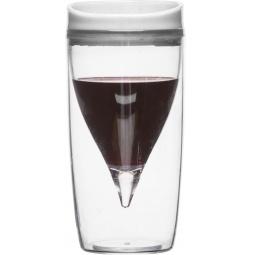 фото Стакан для вина Sagaform с пробкой. Цвет: прозрачный, белый
