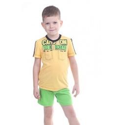 фото Комплект для мальчика: футболка и шорты Свитанак 606496. Размер: 28. Рост: 98 см