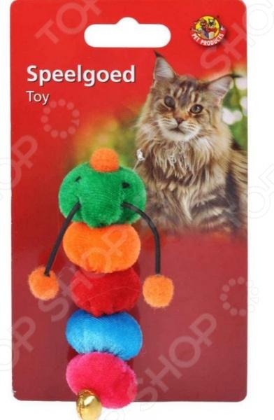 Игрушка для кошек Beeztees «Гусеница». В ассортименте игрушка для кошек beeztees удочка с перышками в ассортименте