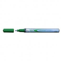 фото Маркер контурный двухцветный Pentel Qutine. Цвет: серебристый, зеленый
