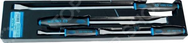 Набор монтировок слесарных King Tony KT-9TK014Балонные ключи. Монтировки<br>Набор монтировок слесарных King Tony KT-9TK014 необходим в каждом доме. С их помощью слесарные работы будут проходить легко и с комфортом. В комплект входят три монтировки различного профиля, благодаря которым расширяется возможность их использования. Инструменты выполнены из качественной инструментальной легированной стали с термической обработкой. На концах есть эргономичные резиновые ручки, которые препятствуют выскальзыванию монтировки во время работы. Также, благодаря ручкам, упор на инструмент выполнять проще. Эти монтировки используются не только в слесарных работах. С продукцией марки King Tony работать приятно и легко!<br>