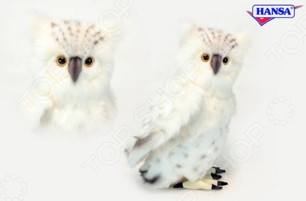 Мягкая игрушка Hansa «Сова белая» мягкая игрушка сова hansa сова белая 18 см белый искусственный мех синтепон 6155