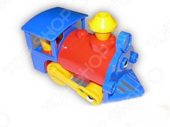 Паровозик игрушечный Нордпласт 010Железные дороги<br>Паровозик игрушечный Нордпласт 010 яркий паровозик для маленьких детей. Его яркие цвета порадуют и заинтересуют вашего малыша. Родители должны в начале помочь своему ребенку, что бы он понял механику действия игрушки. В процессе игры ребенок развивает моторику, координацию движений, логику и ловкость.<br>