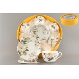 Купить Чайный набор с ложками Elan Gallery «Белый шиповник» 730482