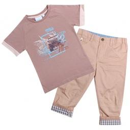 Купить Комплект: футболка и брюки WWW Your freedom. Цвет: коричневый