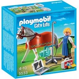фото Конструктор игровой Playmobil «Ветеринарная клиника: Лошадка с рентгеновским аппаратом»