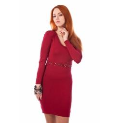 фото Платье Mondigo 9766. Цвет: бордовый. Размер одежды: 46