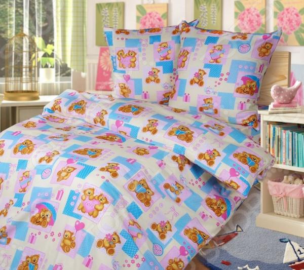 Ясельный комплект постельного белья Бамбино «Мишутки»