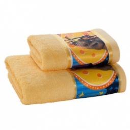 фото Полотенце махровое Непоседа «Мадагаскар. Мелман». Цвет: желтый. Размер полотенца: 70х35 см