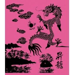 фото Тетрадь в клетку Пересвет «Китайский дракон». В ассортименте