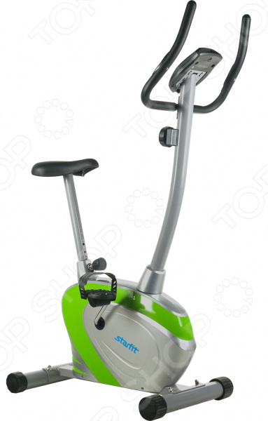 Велотренажер Star Fit BK-103 OptimusВелотренажеры<br>Велотренажер Star Fit BK-103 Optimus современная модель домашнего тренажера с магнитной системой изменения нагрузки. Это удобная эргономичная модель станет отличным выбором для тех, кто заботится о своем здоровье и хочет поддерживать себя в хорошей физической форме. Основное преимущество таких тренажеров возможность заниматься спортом в любое время. Эта модель рассчитана на любителей и продвинутых пользователей, и не подходит для профессиональных тренировок. Велотренажер занимает очень мало места и компактно умещается даже в маленькой комнате. На нем вы сможете укрепить мышцы ног и спины, а также, кардиотренировка на велотренажере улучшает работу кровеносной системы. Данная модель работает на усовершенствованной магнитной системе. В ней запрограммировано восемь уровней нагрузки, которые обеспечивают полноценную работу мышц со стремительным прогрессом. На руле установлен дисплей LCD, который показывает самые главные параметры: время, скорость, дистанцию и калории. Датчик измерения пульса тоже находится на руле, что позволит вам контролировать состояние своего тела, не отрываясь от тренировки. Удобное эргономичное сиденье и педали с фиксирующими ремнями позволят полностью погрузиться в занятие. Велотренажер Optimus оснащен более мягкой плавностью хода, что делает симуляцию максимально похожей на велосипедную езду.<br>
