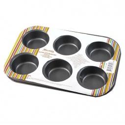 фото Форма для выпечки цветная Marmiton «Кекс», 6 ячеек
