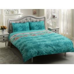 фото Комплект постельного белья TAC Britan. 1,5-спальный. Цвет: зеленый