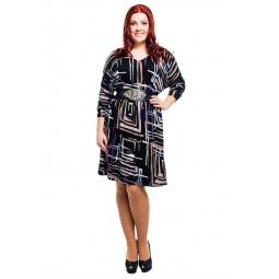 фото Платье Mondigo 8521. Цвет: черный. Размер одежды: 50