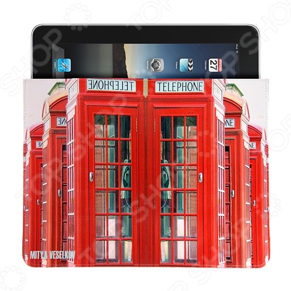 Чехол для iPad Mitya Veselkov «Будка в Лондоне» чехлол для ipad iphone mitya veselkov чехол для ipad райский сад ip 08