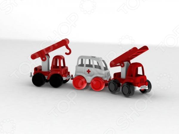 Набор машинок игрушечных Нордпласт «МЧС. Нордик»Машинки<br>Набор машинок игрушечных Нордпласт МЧС. Нордик - яркий и красочный набор машинок, который обязательно понравится вашему юному автолюбителю или спасателю. В комплекте малыш сможет найти машину скорой помощи, подъемник и машинку с краном, которые едут друг за другом. Все машинки из этой серии имеют сцепные устройства, которые позволяют сформировать настоящий паровозик из самых разных машинок. Игрушки выполнены из высококачественного и прочного материала, который гарантирует долговечность и надежность изделий. Игра с таким удивительным набором будет способствовать развитию у ребенка Особенности набора игрушечных машинок Нордпласт МЧС. Нордик :  специальные крепления для создания удивительного автопоезда;  надежная колесная база;  прочный пластик;  яркие цвета.<br>