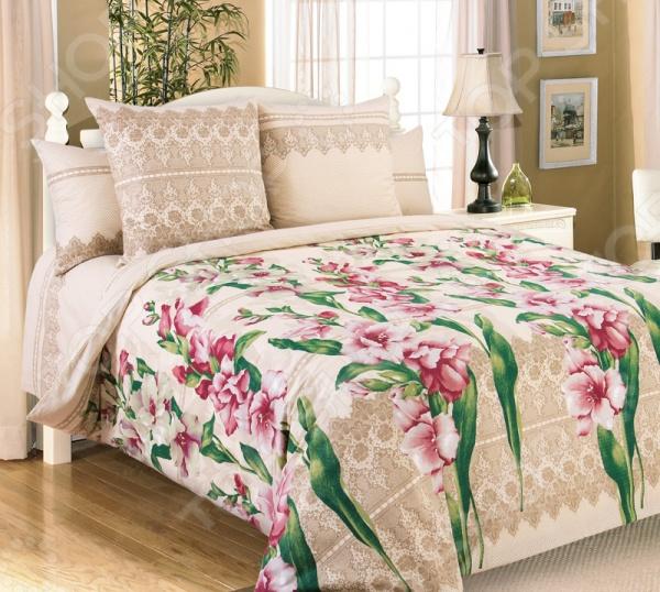 Комплект постельного белья Королевское Искушение «Гладиолусы» 1713683 комплекты белья linse комплект белья