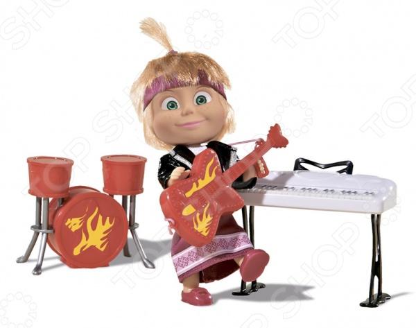 Набор игровой с куклой Simba «Маша в рок-наряде с гитарой, синтезатором и барабанами»