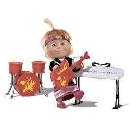 фото Набор игровой с куклой Simba «Маша в рок-наряде с гитарой, синтезатором и барабанами»