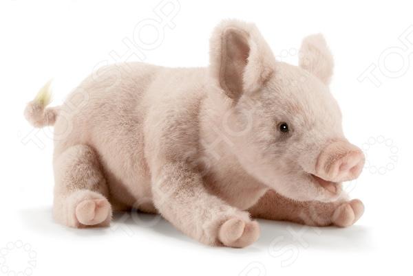 Мягкая игрушка для ребенка Hansa «Свинка» hansa медведь полярный спящий 4922 мягкая игрушка