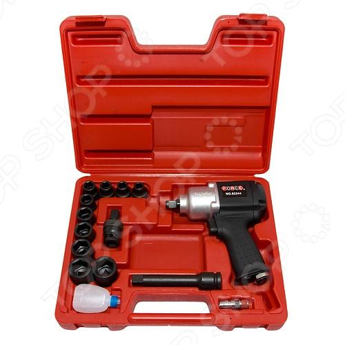Набор инструмента: пневмогайковерт с ударными головками Force F-4142-3 пневмогайковерт abac с 4 головками 750157