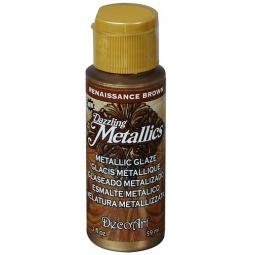 фото Глазурь DecoArt Dazzling Metallics. Цвет: ренессанс коричневый